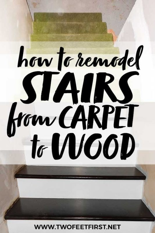 redo stairs from carpet to wood