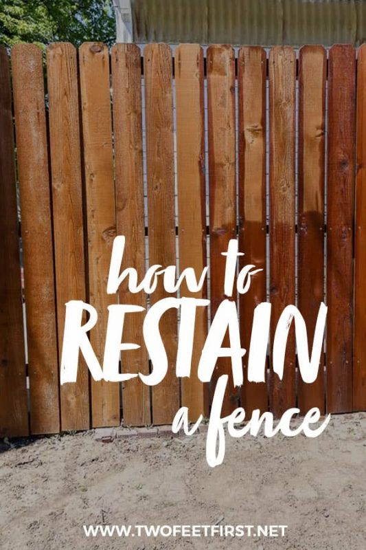 how to restain a fence