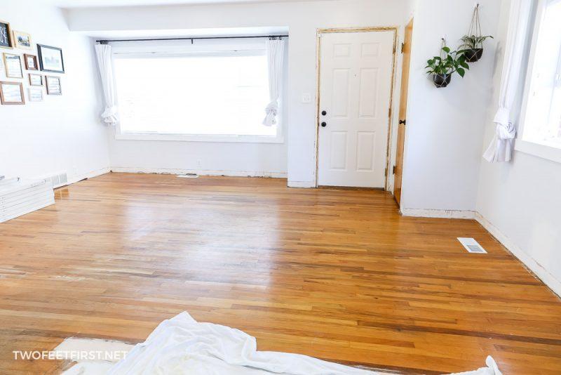 old wood floor before new flooring