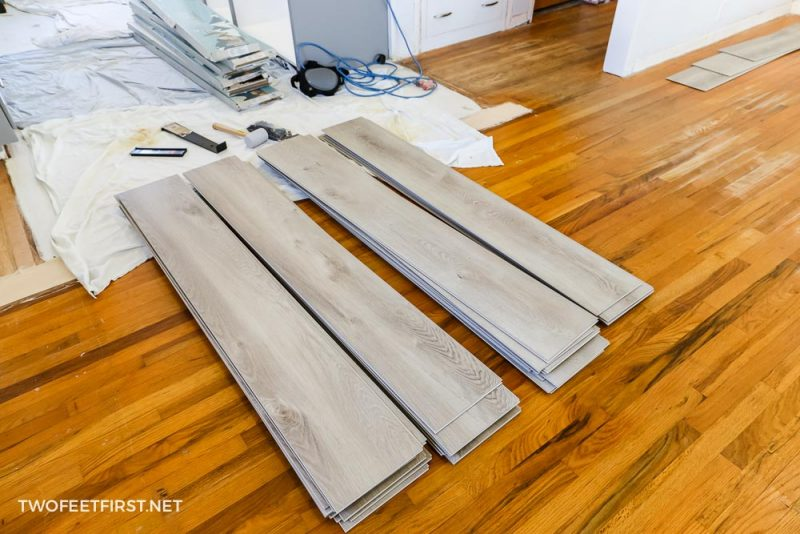 pile of new LVP flooring