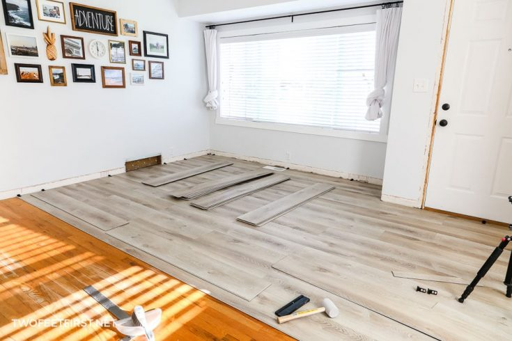 installing LVP flooring
