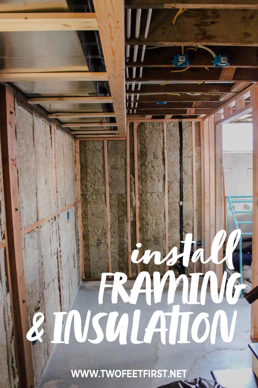install framing and insulation in a basement