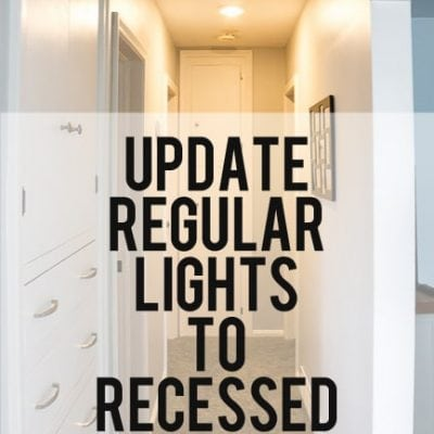 update light to recessed light