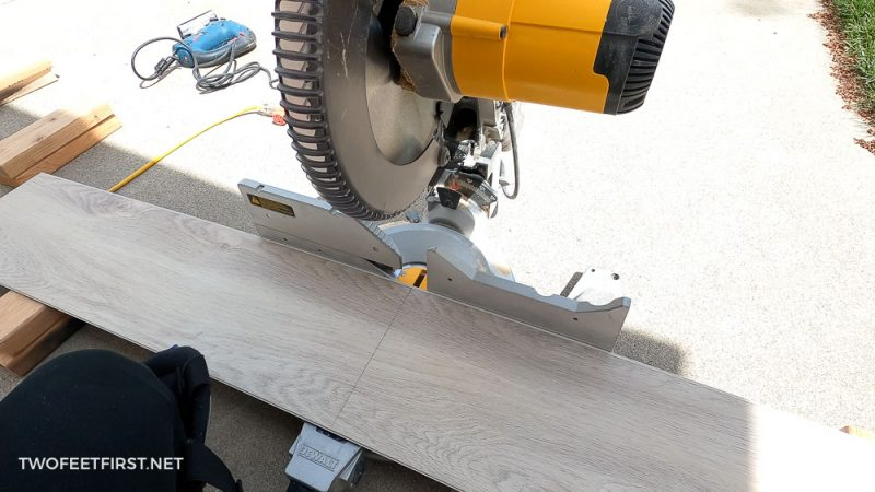 cutting LVP with miter saw