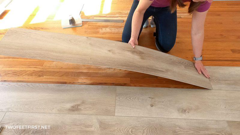 installing luxury vinyl flooring over wood