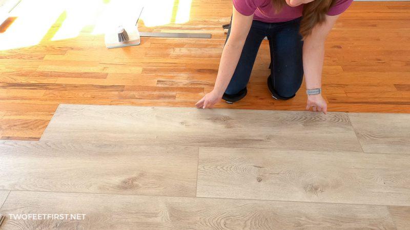 attaching LVP planks together