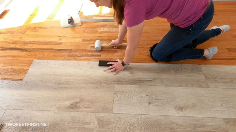 how to install LVP over wood flooring