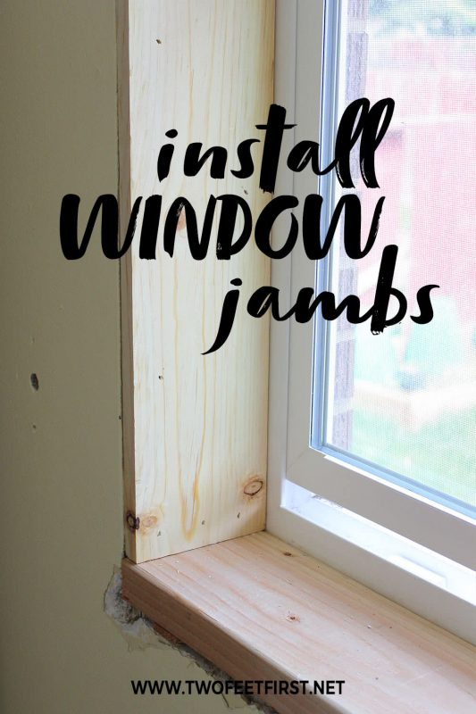 how to install window jambs