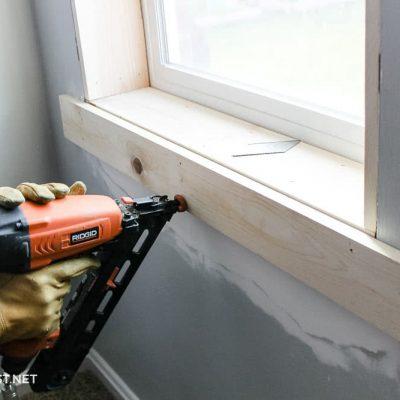 install base of craftsman window trim