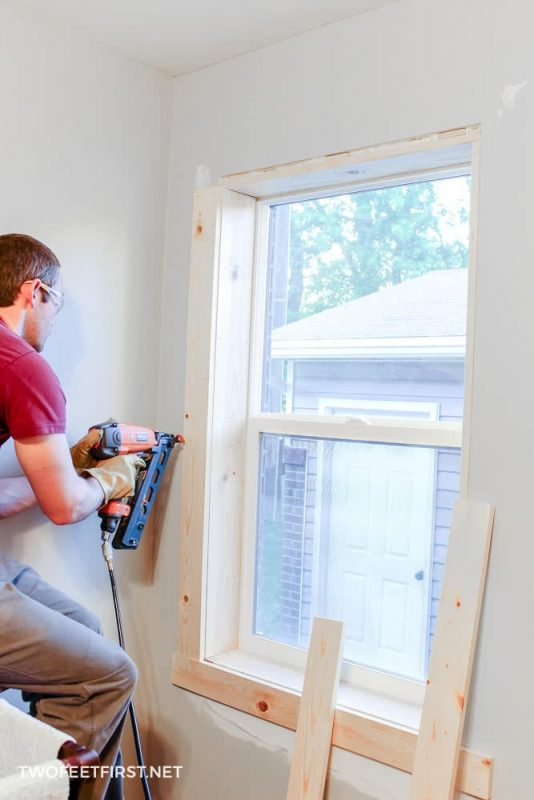 installing interior window trim