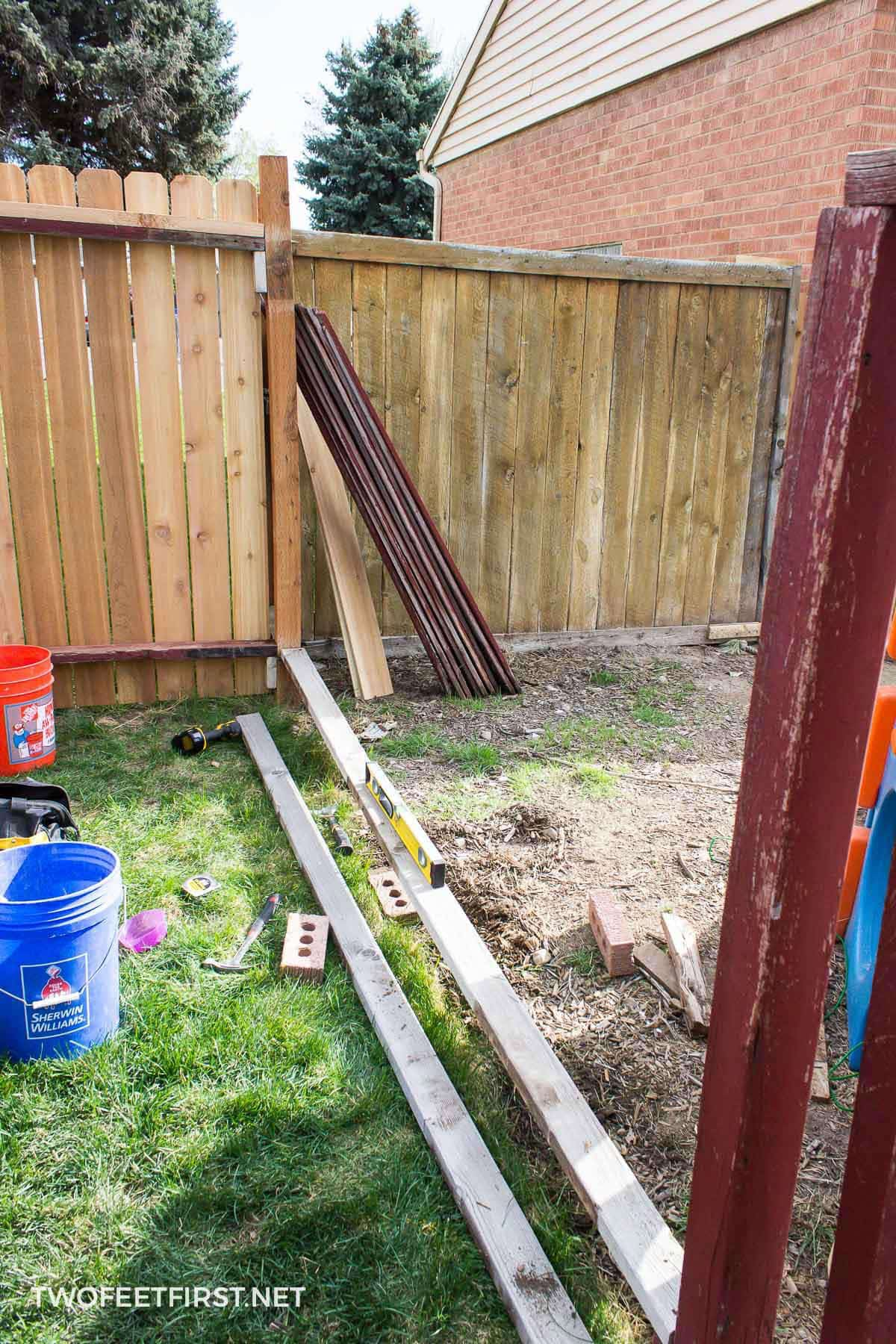 rebuild an old fence