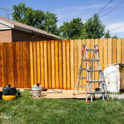 how to stain cedar fence