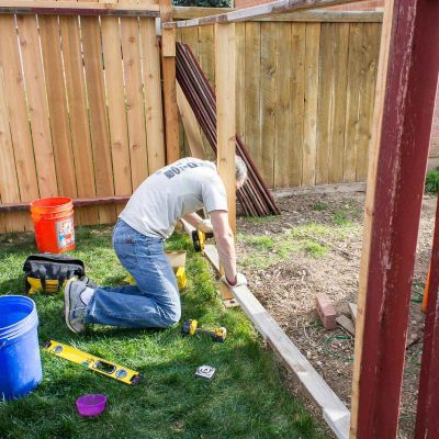 rebracing a fence