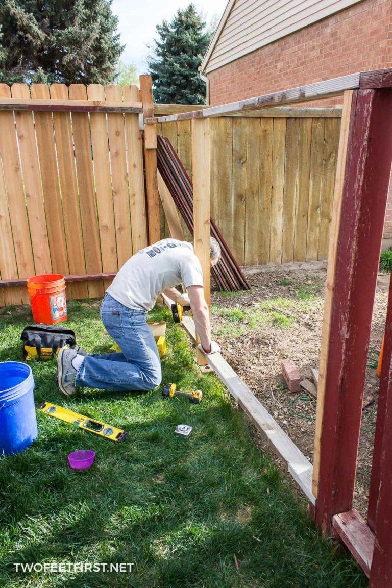 How to Rebuild a Fence – AKA: REBRACING