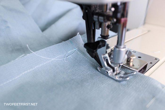 sewing corner of slipcover