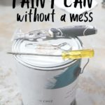 open a paint can without a mess