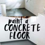 paint a concrete floor tutorial