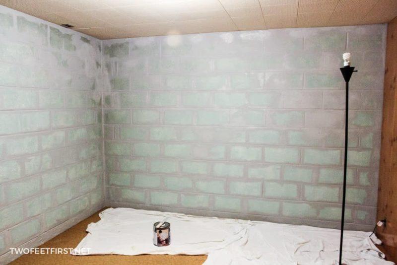 cutting in around cinder block walls