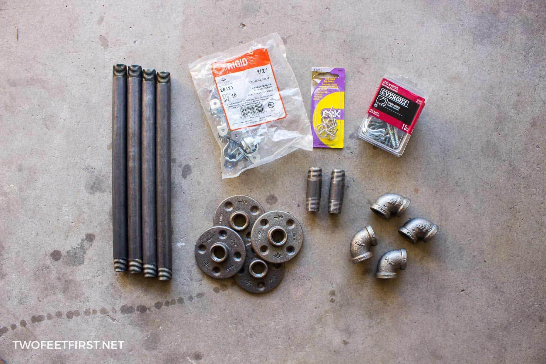 supplies for creating DIY pan storage rack