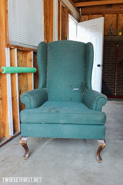 upholstery wingback chair