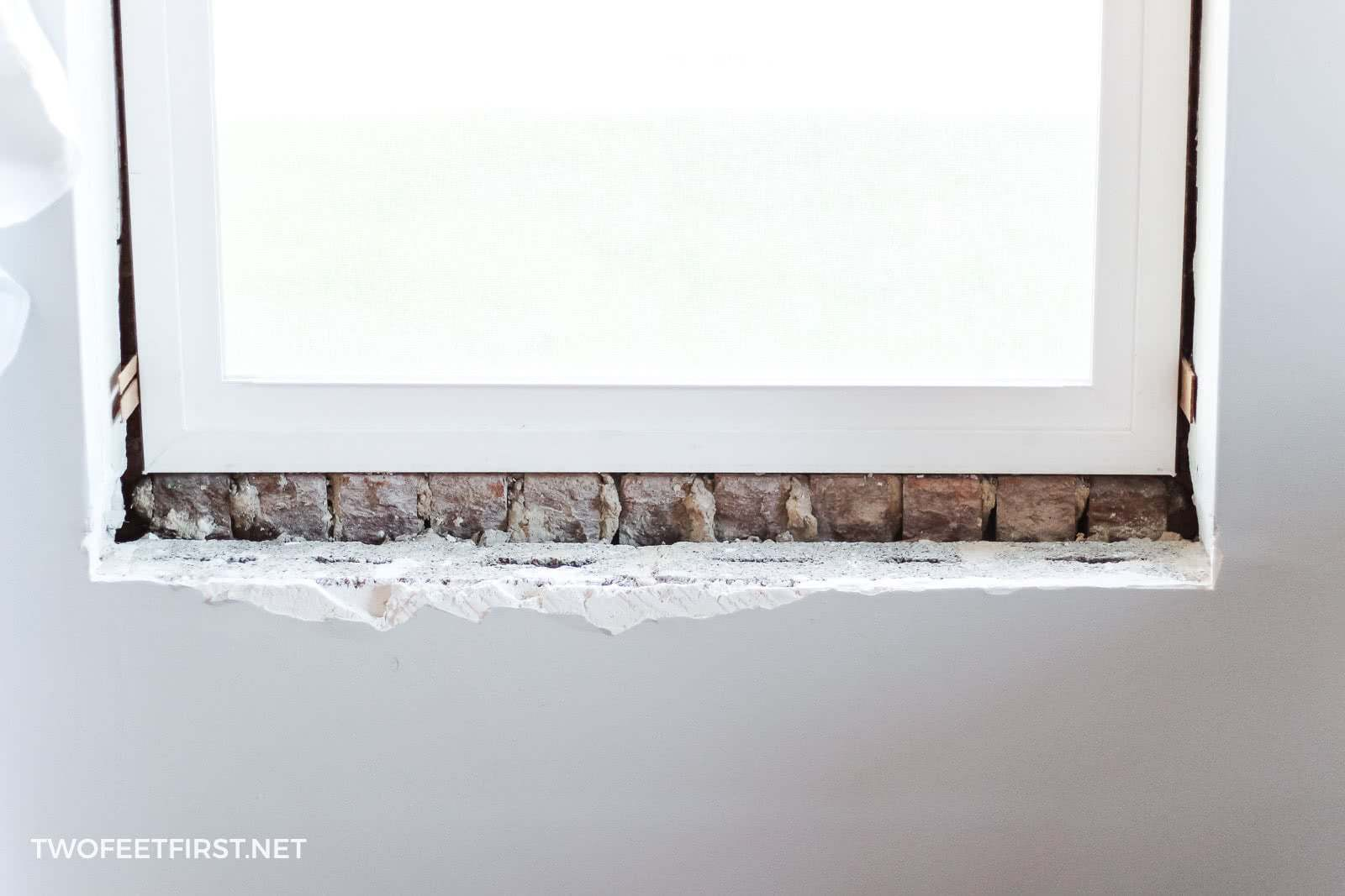 remove tiles from window sill