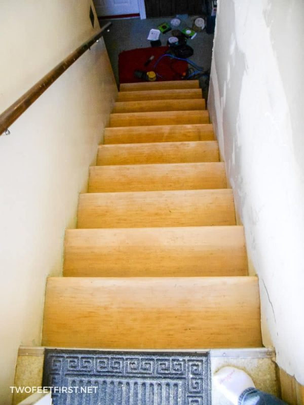 sanded stairs