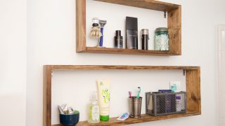 Super Simple DIY Box Shelves