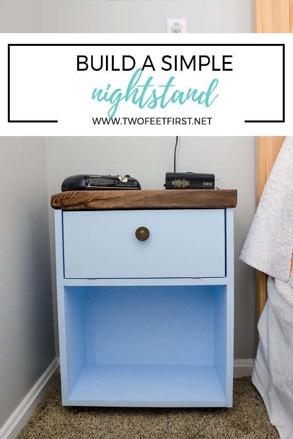 DIY simple nightstand