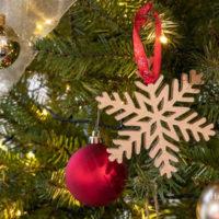 Simple Gold DIY Scroll Saw Ornaments