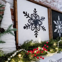 How to Make Large Framed Snowflake Signs