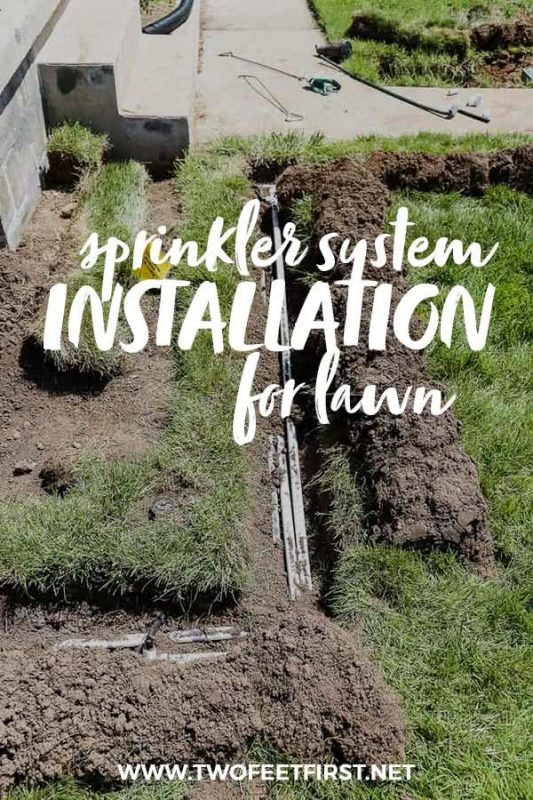 sprinkler system installation for lawn