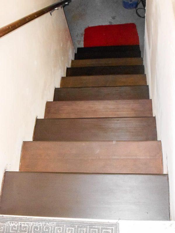 polyurethane on stairs