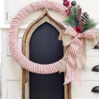 Make a Farmhouse Christmas Wreath for $10