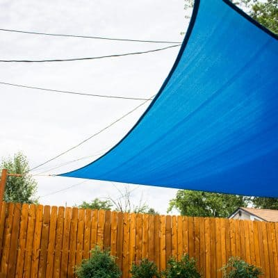 how to install a sun sail shade for yard