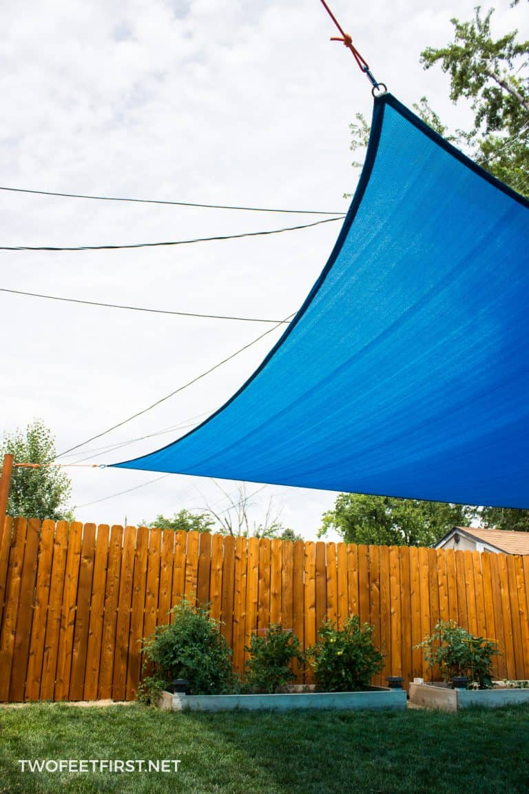 How to install a Shade sail to a backyard