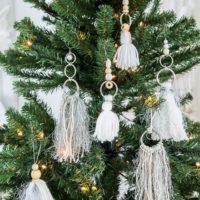 A Bohemian Christmas tree ornament