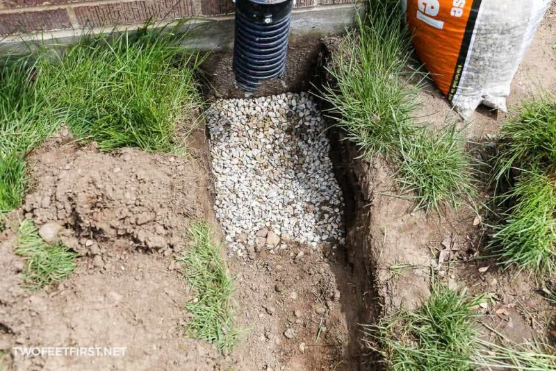 gravel for catch basin for french drain
