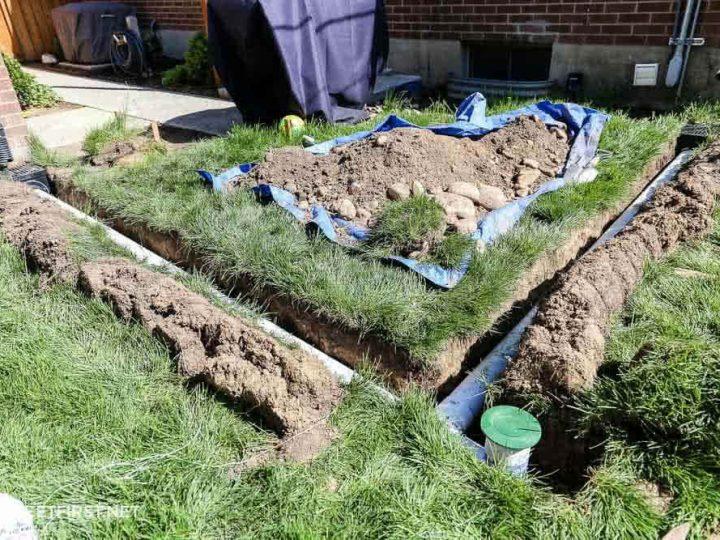 Install Underground Gutter Drainage Diy French Drain Twofeetfirst