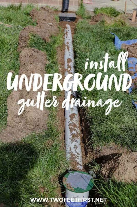 install underground gutter drainage