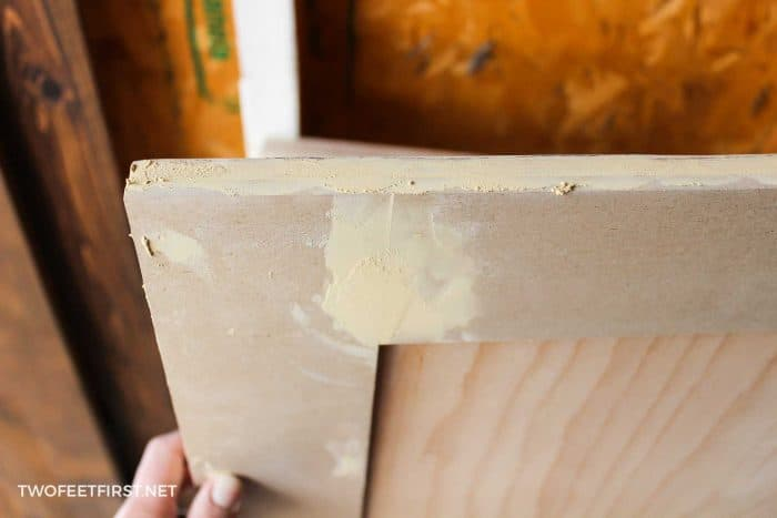 filling in holes on cabinet trm