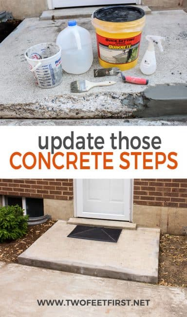 Is your porch steps chippped and looking really sad? Come see how to patch those chipped concrete stairs.