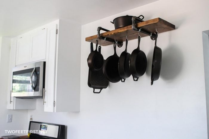 cast iron pan storage rack